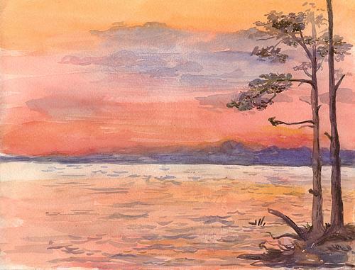 Рисование и живопись пейзажи гуашь